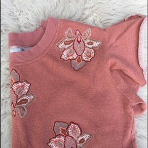 Chloe Oliver shirt Anthropologie  embroidered
